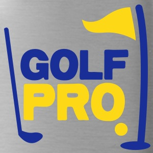 golf pro with golf ball flag and club Accessories - Water Bottle