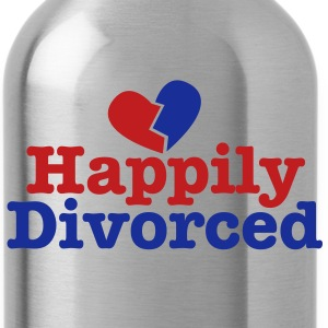 happily divorced with broken love heart Accessories - Water Bottle