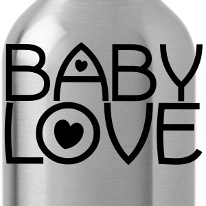 baby love cute font with love hearts lovely! Accessories - Water Bottle