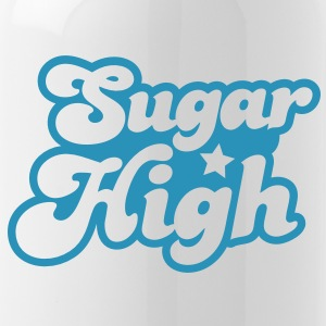 sugar high blue in a funky font Accessories - Water Bottle