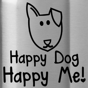 HAPPY DOG- HAPPY ME! with smiling puppy dog face Accessories - Water Bottle