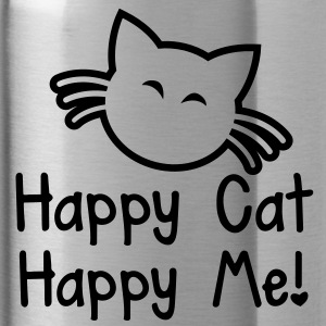 HAPPY CAT HAPPY ME with cute little kitty cat  Accessories - Water Bottle