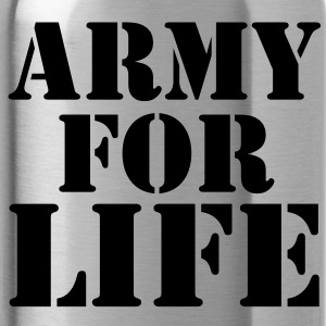ARMY for LIFE in stencil really bold Accessories - Water Bottle