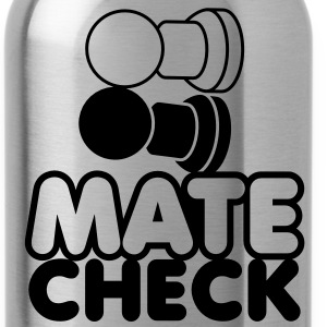 MATE CHECK sexy chess pieces wordplay on checkmate Accessories - Water Bottle