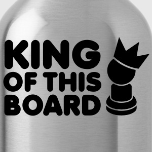 KING of this BOARD with royal pawn and chess piece Accessories - Water Bottle