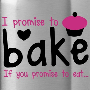 I PROMISE TO BAKE - if you promise to eat! with a cute cupcake Accessories - Water Bottle