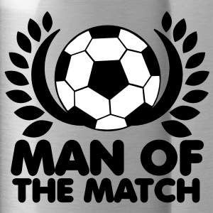 MAN of the MATCH soccer ball with circlet black and white Accessories - Water Bottle
