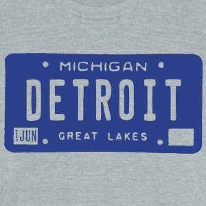 Detroit License T-Shirts - Unisex Tri-Blend T-Shirt by American Apparel