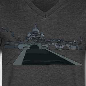 La Basilique du Sacré Coeur Men's V-Neck T-Shirt by Canvas - Men's V-Neck T-Shirt by Canvas