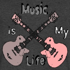 Music is my life Men's V-Neck T-Shirt by Canvas