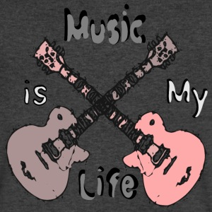 Music is my life Men's V-Neck T-Shirt by Canvas - Men's V-Neck T-Shirt by Canvas
