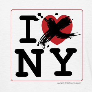 I Hate  New York, Funny T-Shirt Design - Women's T-Shirt