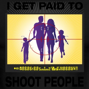 I Get Paid To Shoot People - Men's Ringer T-Shirt