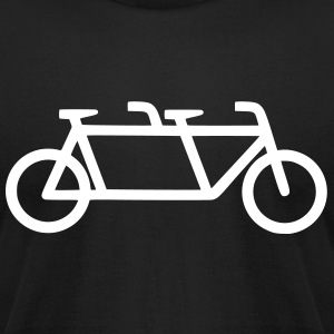 Men's Tandem Bicycle T-shirt - Men's T-Shirt by American Apparel