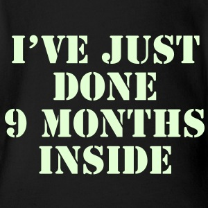 I've Just Done 9 Months Inside / Glow in the Dark Baby & Toddler Shirts - Short Sleeve Baby Bodysuit