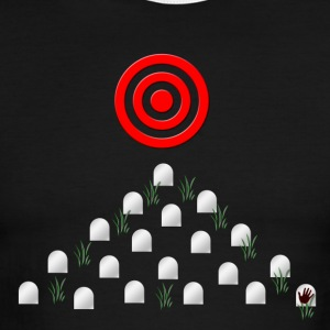 On Target dark grunge graveyard steam punk art  - Men's Ringer T-Shirt