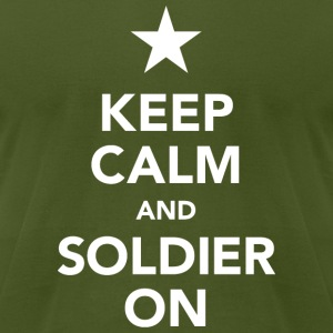Keep calm and soldier on - Men's T-Shirt by American Apparel