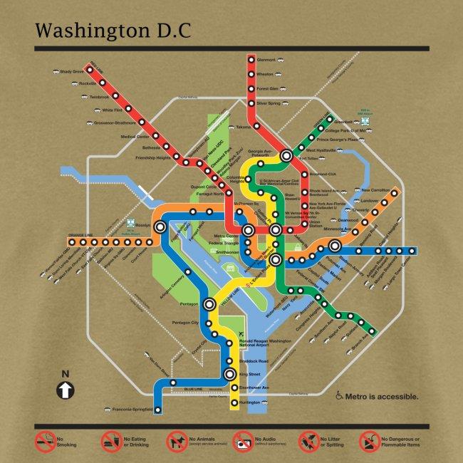 Waington Dc Subway Map.Washington Dc Subway Map Lines T Shirt Men S T Shirt