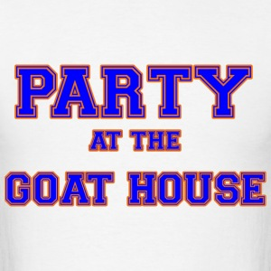 party_at_the_goat_house_blue T-Shirts - Men's T-Shirt