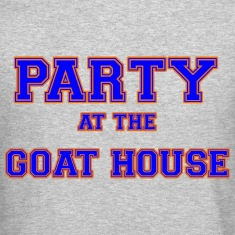 party_at_the_goat_house_blue Long Sleeve Shirts