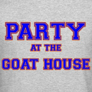 party_at_the_goat_house_blue Long Sleeve Shirts - Crewneck Sweatshirt