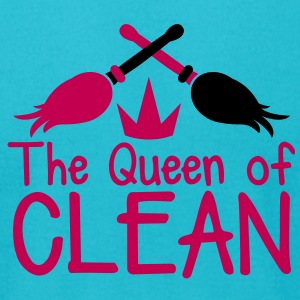 THE QUEEN of CLEAN! with feather dusters crown T-Shirts - Men's T-Shirt by American Apparel