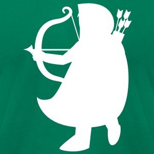 man with a bow and arrow solid Robin Hood ARCHER T-Shirts - Men's T-Shirt by American Apparel
