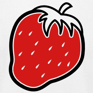 2 color Cute strawberry fruit fruits  T-Shirts - Men's T-Shirt by American Apparel