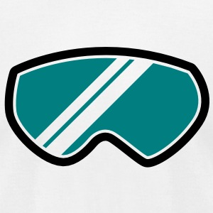 snow goggles WINTER season with reflection T-Shirts - Men's T-Shirt by American Apparel