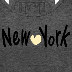 NEW YORK &  heart Women's Flowy Tank Top by Bella