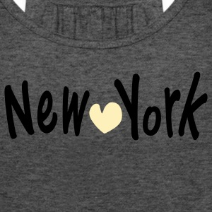 NEW YORK &  heart Women's Flowy Tank Top by Bella - Women's Flowy Tank Top by Bella