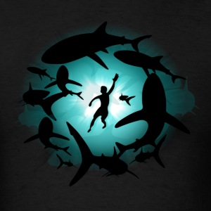 Shark Pool - Men's T-Shirt