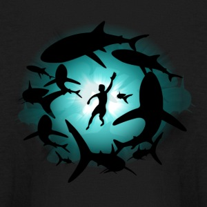 Shark Pool - Kids' Long Sleeve T-Shirt