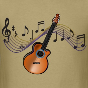Acoustic Guitar - Men's T-Shirt