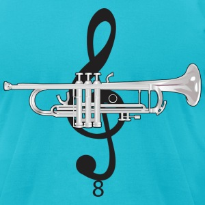 Trumpet - Men's T-Shirt by American Apparel