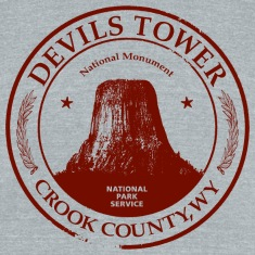 Devils Tower American Apparel Tri-Blend Vintage T-Shirt