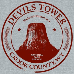 Devils Tower American Apparel Tri-Blend Vintage T-Shirt - Unisex Tri-Blend T-Shirt by American Apparel