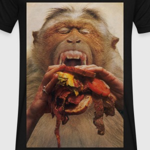 No More Fast Food - Men's V-Neck T-Shirt by Canvas