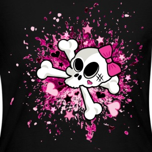 Girlie Skull Long Sleeve Shirts - Women's Long Sleeve Jersey T-Shirt