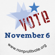 Design ~ Vote November 6 T-shirt - Women's