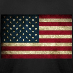 Grunge American Flag T-Shirts - Men's T-Shirt by American Apparel
