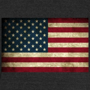 Grunge American Flag T-Shirts - Unisex Tri-Blend T-Shirt by American Apparel