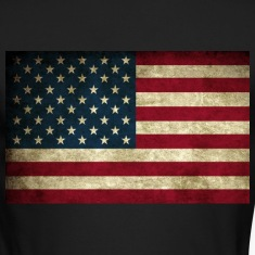 Grunge American Flag Long Sleeve Shirts