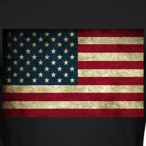 Grunge American Flag Long Sleeve Shirts - Men's Long Sleeve T-Shirt by Next Level