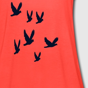 Doves - Women's Flowy Tank Top by Bella