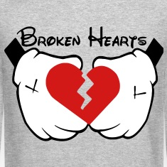 Broken Hearts (Vector) Long Sleeve Shirts