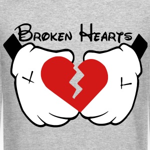 Broken Hearts (Vector) Long Sleeve Shirts - Crewneck Sweatshirt