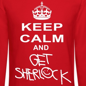 keep calm and get sherlock Long Sleeve Shirts - Crewneck Sweatshirt