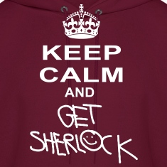 keep calm and get sherlock Hoodies