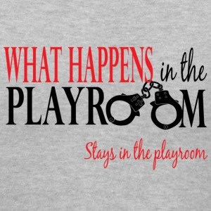 What Happens in the Playroom 2 V Neck - Women's V-Neck T-Shirt